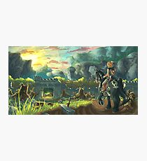 Zelda Breath of the WIld - Fort Hateno Photographic Print