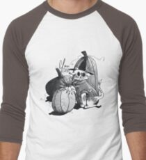 Pumpkin Cat Men's Baseball ¾ T-Shirt