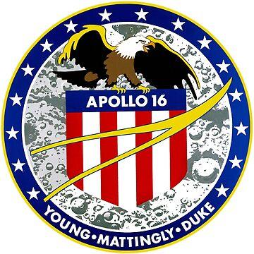 Apollo 16 Mission Logo by Quatrosales