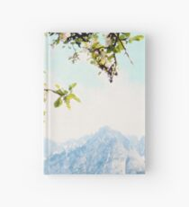 Apple Blossoms and Mountains  Hardcover Journal