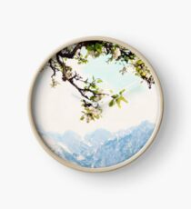 Apple Blossoms and Mountains  Clock