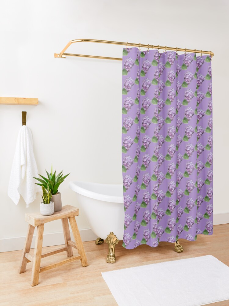 Alternate view of Spring Lilac Shower Curtain