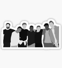Sidemen || Black and White Sticker