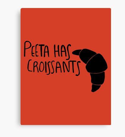 The Baker Has Croissants (Black Design) Canvas Print