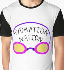 Hydration Nation Swimming Racing Goggles Graphic T-Shirt
