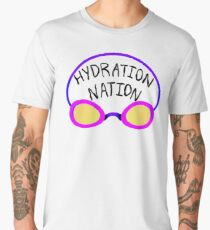 Hydration Nation Swimming Racing Goggles Men's Premium T-Shirt
