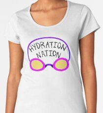 Hydration Nation Swimming Racing Goggles Women's Premium T-Shirt