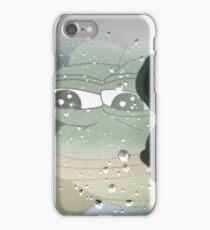 Pepe, the Sad Frog (Rainy Window) iPhone Case/Skin