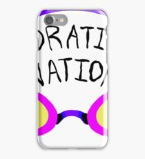 Hydration Nation Swimming Racing Goggles iPhone Case/Skin