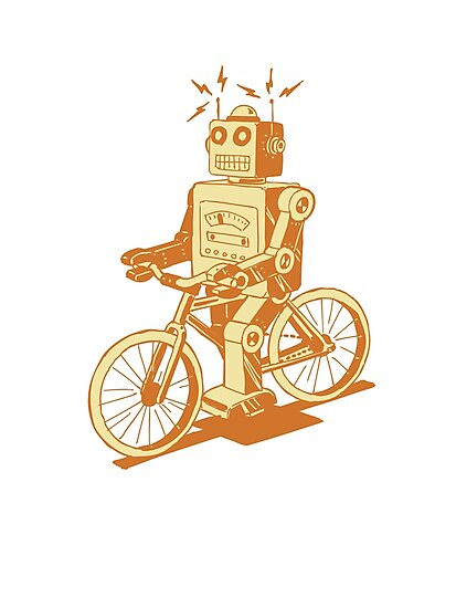 robot on fixie by Hendude
