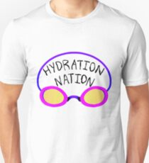 Hydration Nation Swimming Racing Goggles T-Shirt