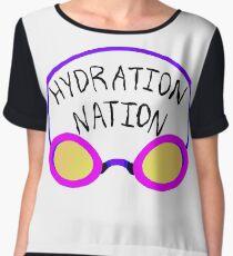 Hydration Nation Swimming Racing Goggles Chiffon Top