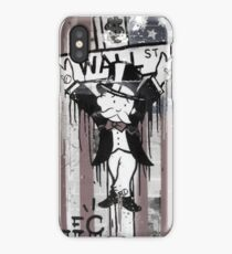 Wall St. Crucifix with American Flag iPhone Case/Skin