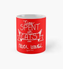 Time Spent With Cats Red Mug