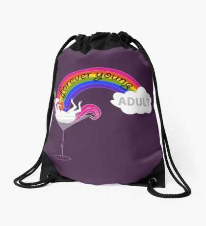 Forever Young Adult Official Logo Drawstring Bag