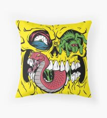 BONE HEAD Throw Pillow