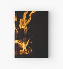 Hot Sparks - Hygge Comfort and Warmth by the Fireplace Hardcover Journal