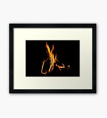 Hygge Hot - Cosy Fire in the Hearth Framed Print