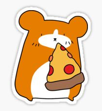 Hamster with Pizza  Sticker