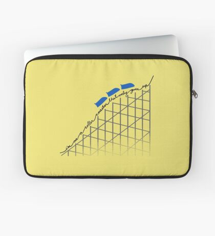 I'm On a Roller Coaster That Only Goes Up (Blue Cars) Laptop Sleeve