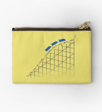 I'm On a Roller Coaster That Only Goes Up (Blue Cars) Studio Pouch