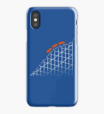 I'm On a Roller Coaster That Only Goes Up (Orange Cars) iPhone Case/Skin
