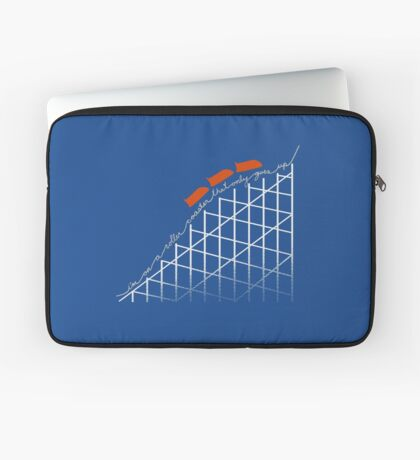 I'm On a Roller Coaster That Only Goes Up (Orange Cars) Laptop Sleeve