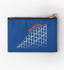 I'm On a Roller Coaster That Only Goes Up (Orange Cars) Studio Pouch