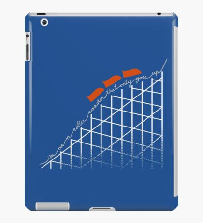 I'm On a Roller Coaster That Only Goes Up (Orange Cars) iPad Case/Skin