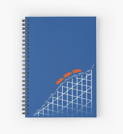 I'm On a Roller Coaster That Only Goes Up (Orange Cars) Spiral Notebook