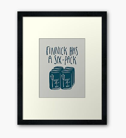 The Swimmer Has a Six-Pack (Dark Teal) Framed Print