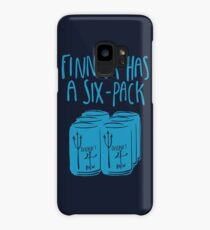 The Swimmer Has a Six-Pack (Light Blue) Case/Skin for Samsung Galaxy