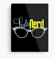 Proud LadyNerd (Grey Glasses) Metal Print