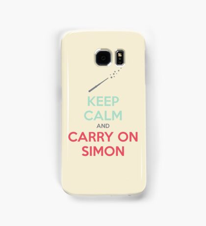 Keep Calm and Carry On Simon (Multi-Color Text) Samsung Galaxy Case/Skin