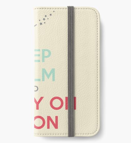 Keep Calm and Carry On Simon (Multi-Color Text) iPhone Wallet