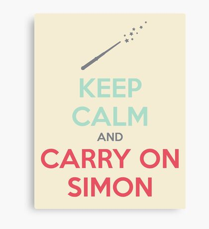 Keep Calm and Carry On Simon (Multi-Color Text) Canvas Print
