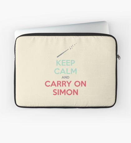 Keep Calm and Carry On Simon (Multi-Color Text) Laptop Sleeve
