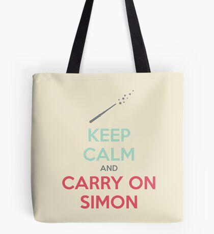 Keep Calm and Carry On Simon (Multi-Color Text) Tote Bag