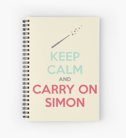 Keep Calm and Carry On Simon (Multi-Color Text) Spiral Notebook