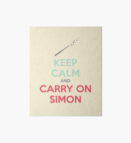 Keep Calm and Carry On Simon (Multi-Color Text) Art Board