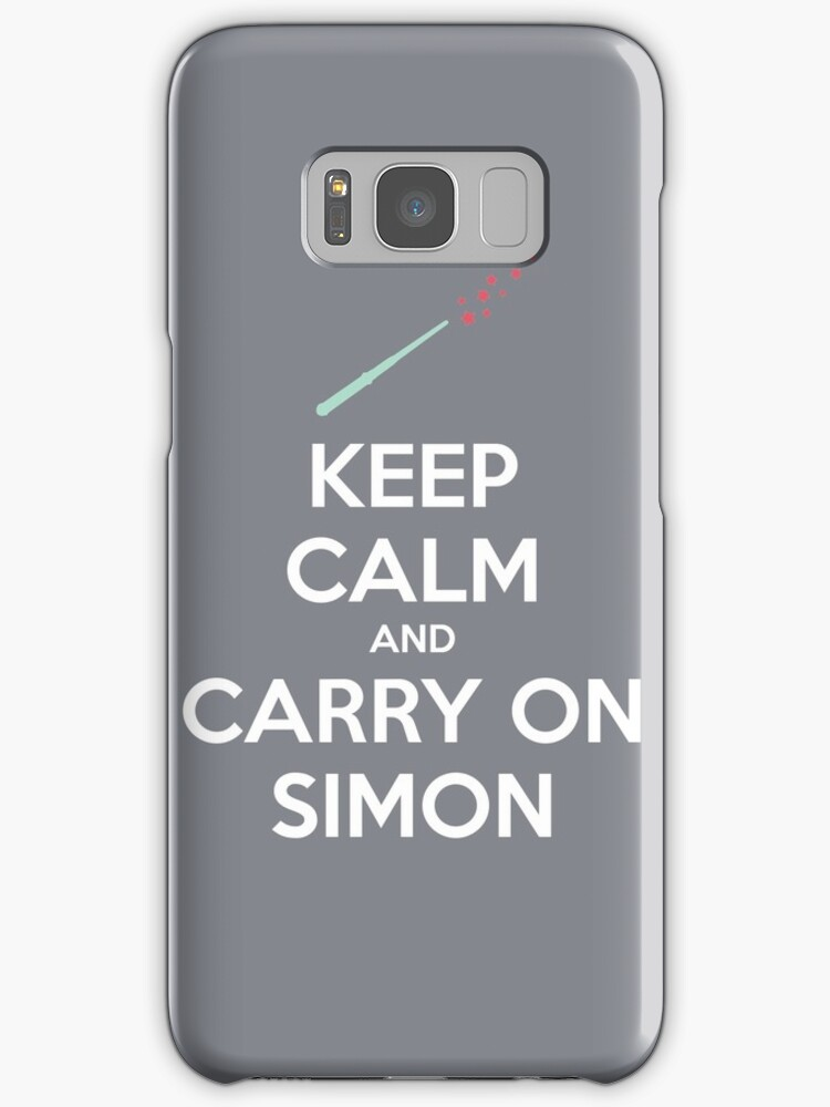 Keep Calm and Carry On Simon (White Text) by 4everYA
