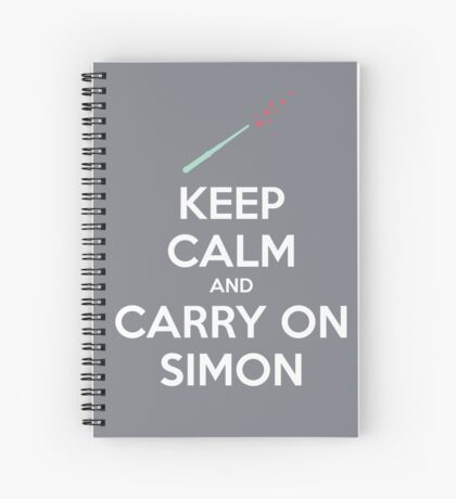 Keep Calm and Carry On Simon (White Text) Spiral Notebook