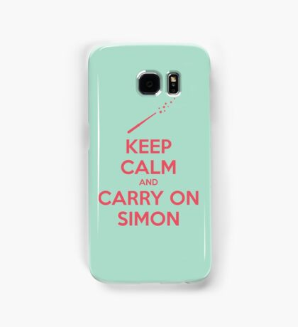 Keep Calm and Carry On Simon (Pink Text) Samsung Galaxy Case/Skin
