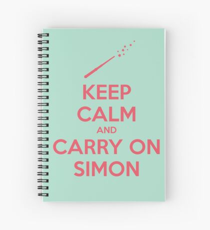 Keep Calm and Carry On Simon (Pink Text) Spiral Notebook