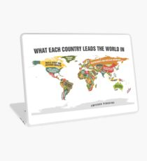 Map of the world Laptop Skin