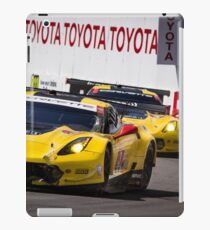 Team Corvette C7R Battling For First and Second! iPad Case/Skin