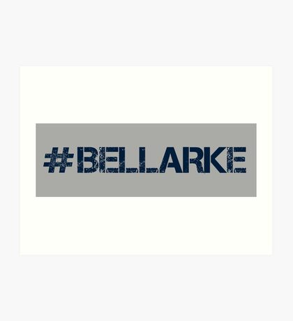 #BELLARKE (Navy Text) Art Print