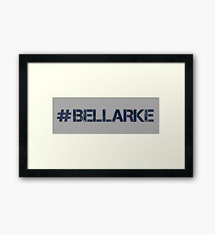 #BELLARKE (Navy Text) Framed Print