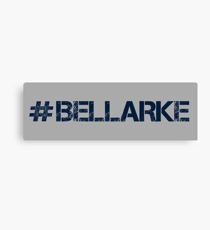#BELLARKE (Navy Text) Canvas Print