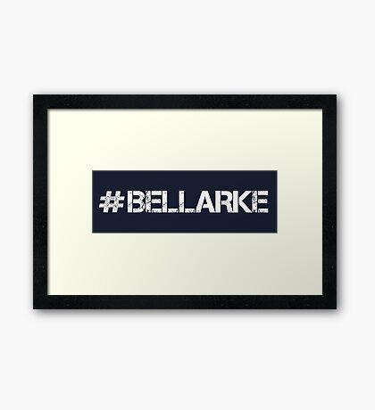 #BELLARKE (White Text) Framed Print